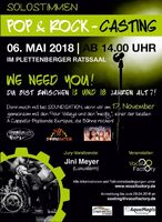 Solostimmen POP- & ROCK-Casting am 06. Mai in Plettenberg